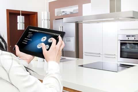 Smart Home apps on tablet