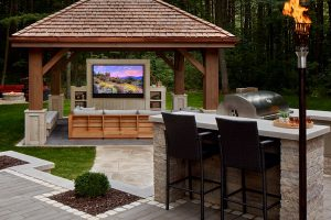 Seura Outdoor TV by the BBQ