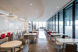 WAC Lighting Oculux recessed LED cafeteria