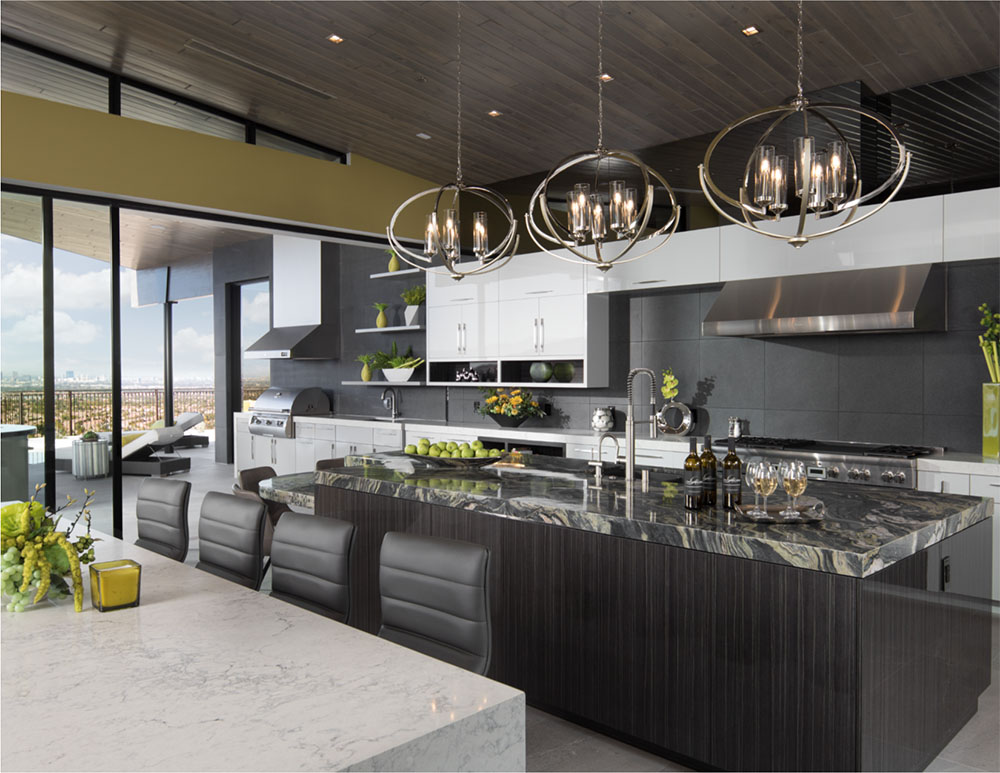 Thermador kitchen counter and appliances