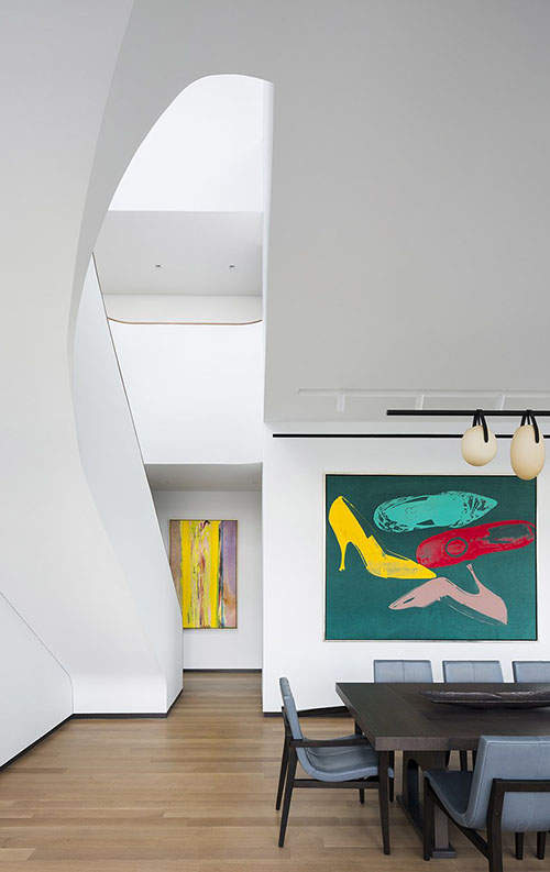 Lighting design for the home staircase back