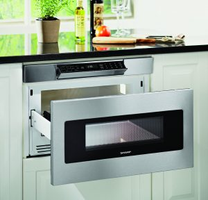 Sharp Thinking Microwave with Auto-Wave Drawer