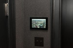 Wall-mounted touch-panel controller