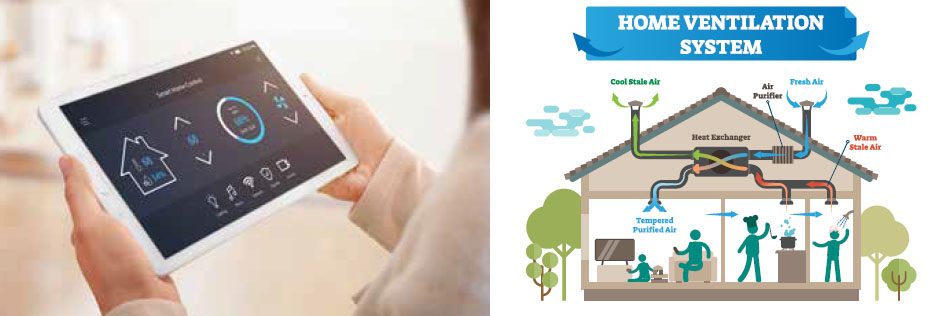 iPad and home ventilation diagram
