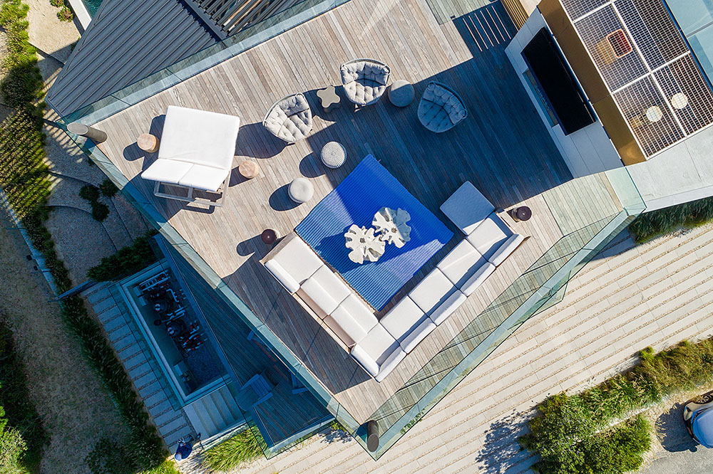 Hamptons Beach House overhead view