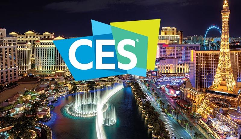 CES logo and Las Vegas skyline