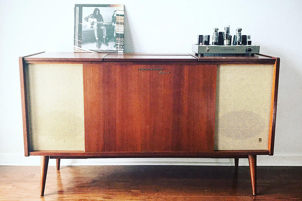 ATX Record Players console with album