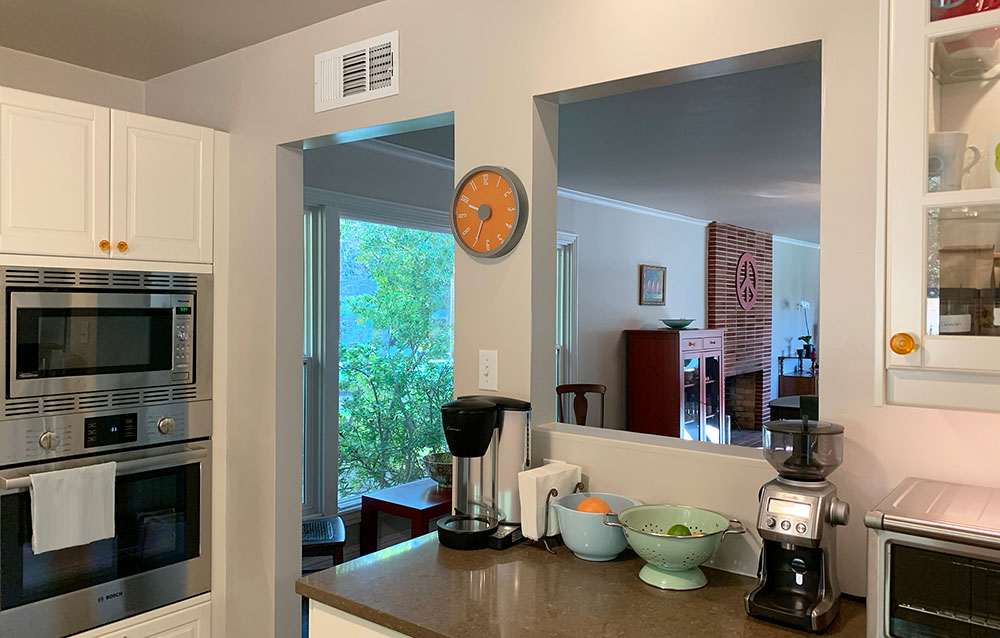 Northern California home remodel view from kitchen