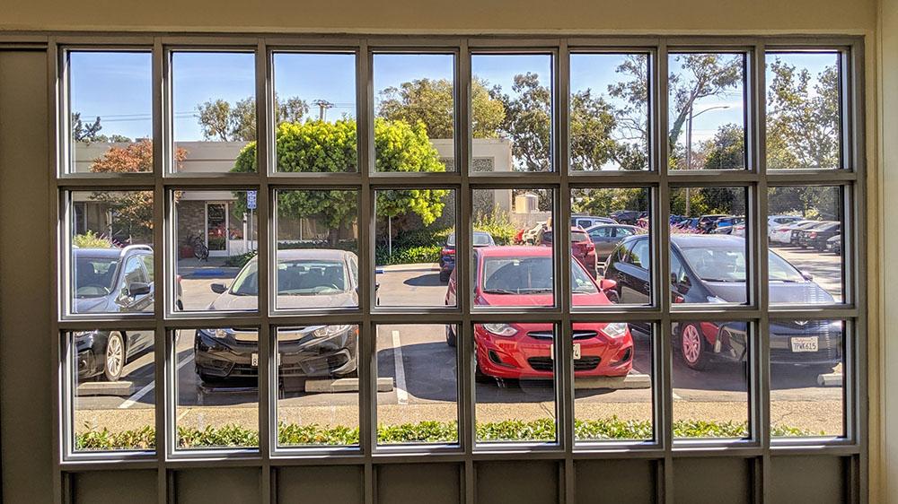 Ubiquitous Energy solar windows from inside