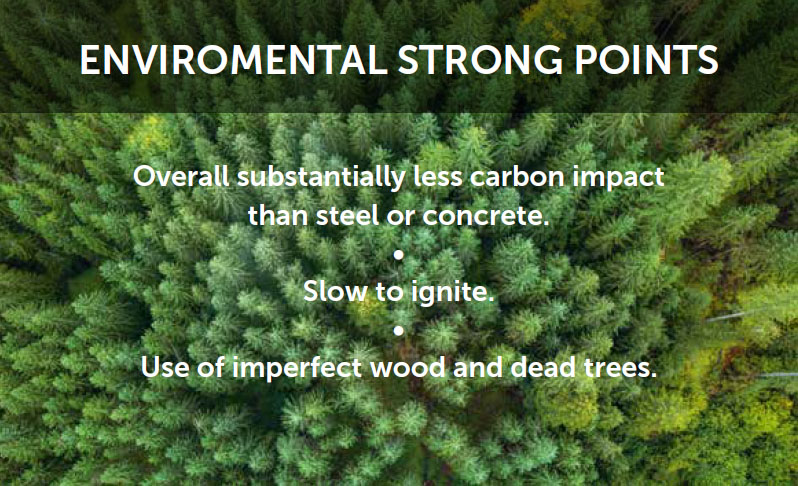 Environmental strong points graphic