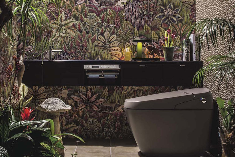 The Luxe Loo jungle theme