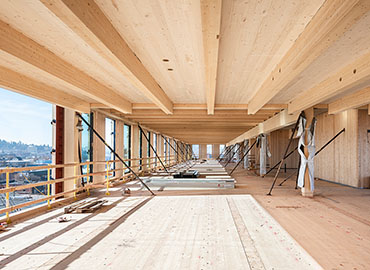 Mass timber building interior
