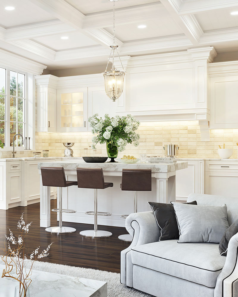 Living in a Brighter space - kitchen -great room
