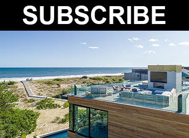Subscribe beach house image and text