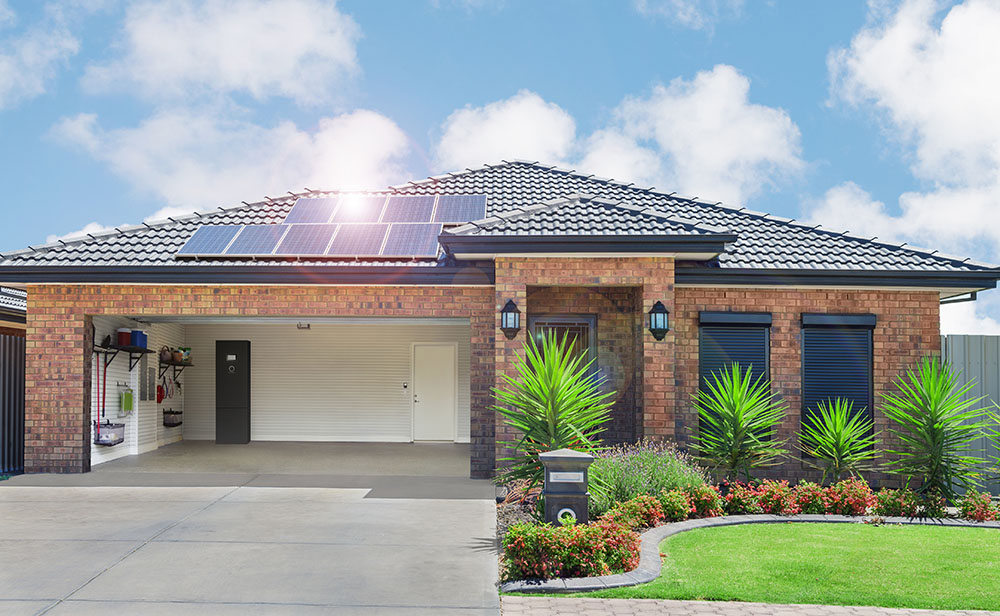 Brick House with ecoLinx solar panels
