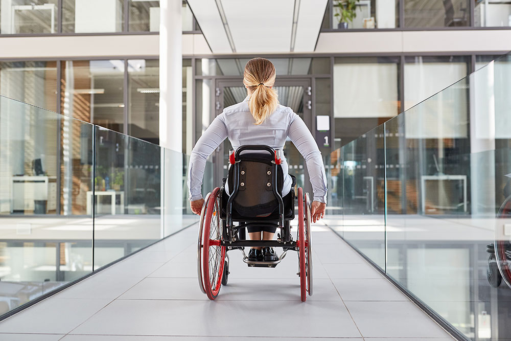 Inclusive design - woman in wheelchair