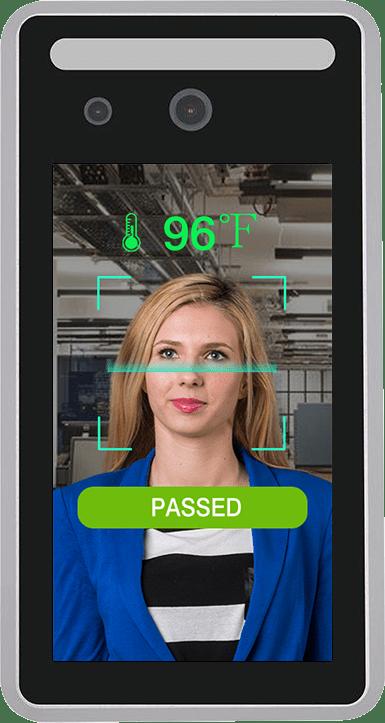 AI temperature screening system