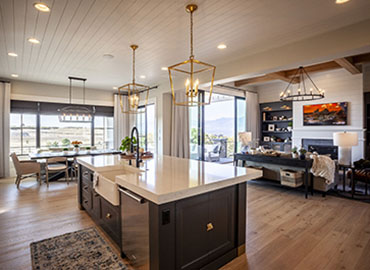 Colorado Springs Smart Home kitchen/family room