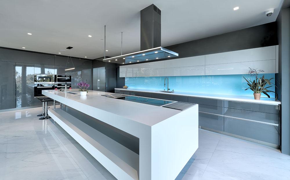 Modern kitchen hidden storage