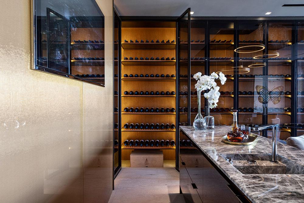 Summitridge wine room