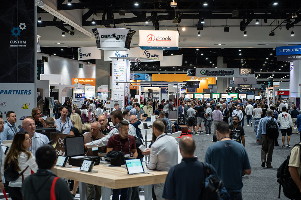 CEDIA EXPO in the exhibition hall