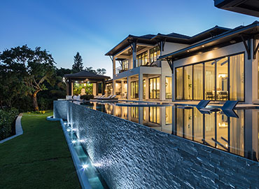 Waterfront Living side pool