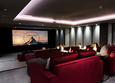 London Apartment Building Control4 Theater