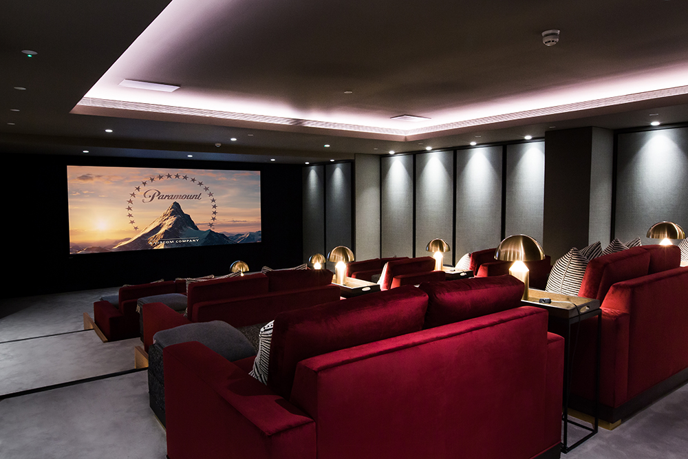 Contril4 Theater in London Apartment Building