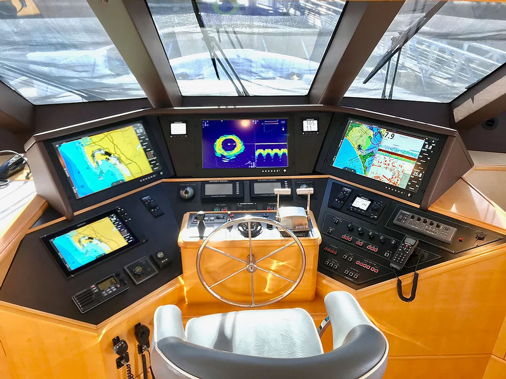 Boat bridge console