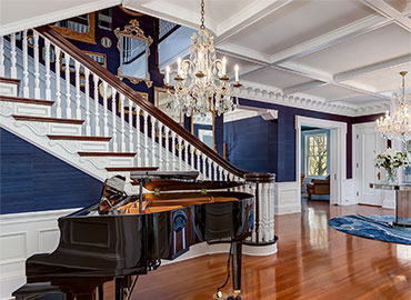 Preservation Architecture staircase and piano
