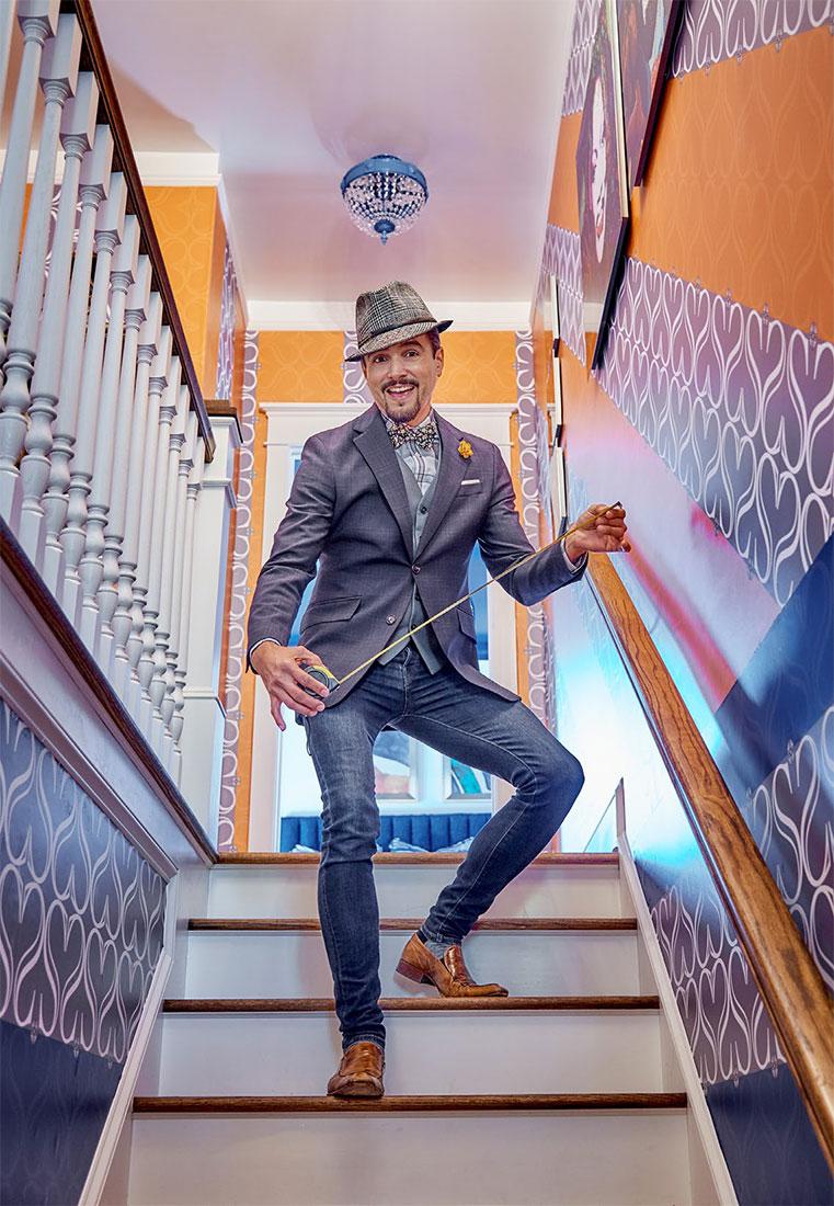 David Santiago staircase